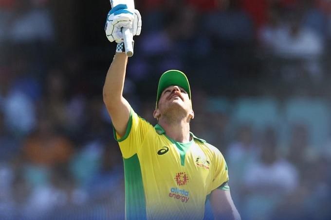 Finch scores century against India