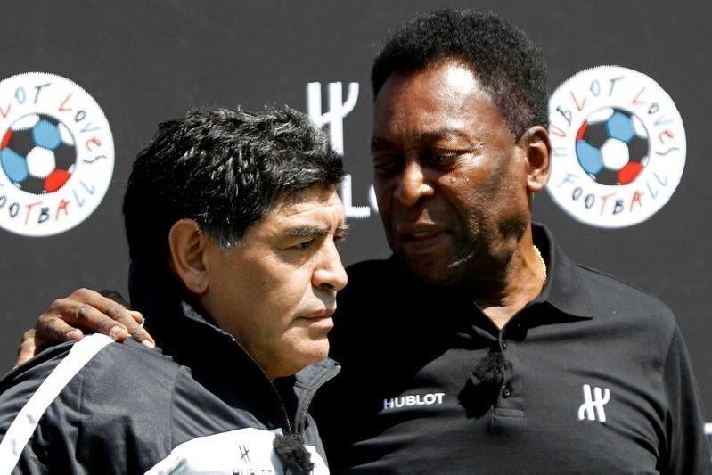 Pele Mourms Maradona Death