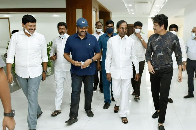 Chiranjeevi and Nagarjuna thanked CM KCR