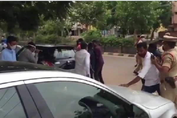 TRS cadre attacks on BJP MP Arvind