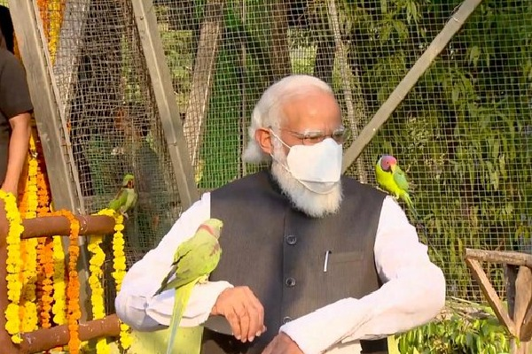 PM Modi inaugurates an aviary at Kevadia