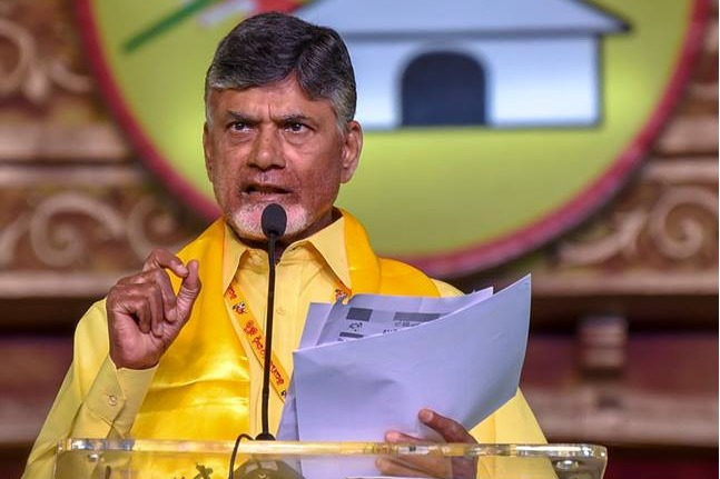Chandrababu press meet at Mangalagiri TDP office