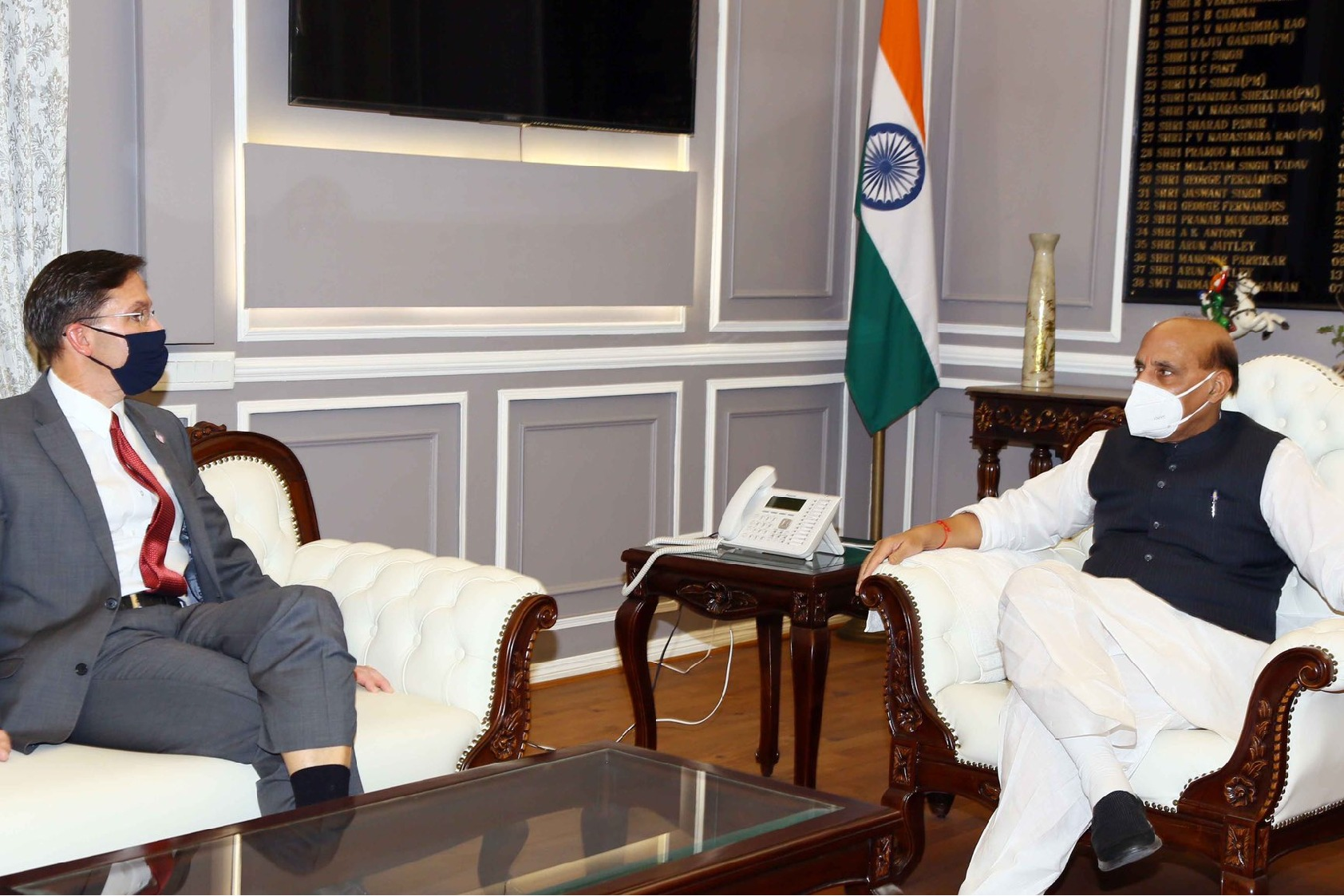 Defence Minister Rajnath Singh Holds Talks With His US Counterpart