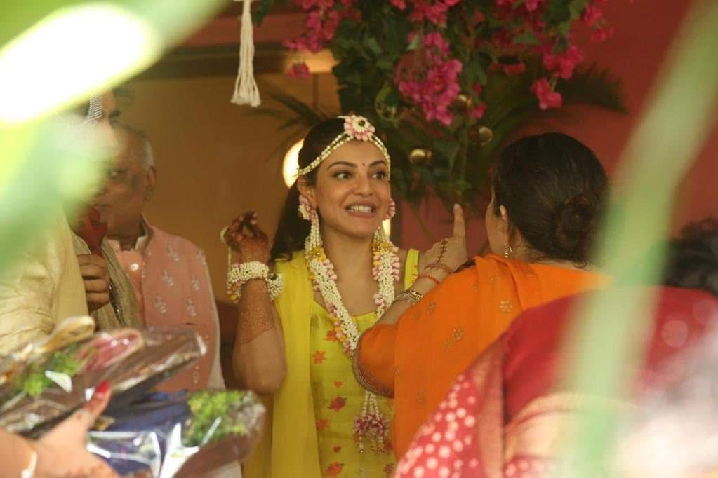 Haldi ceremony at Kajal Aggarwal house in Mumbai