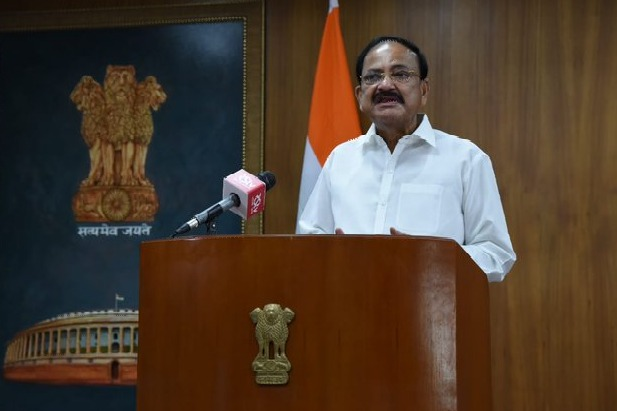 Venkaiah Naidu says he delighted that his wife Usha Naidu is not at all affected by the novel Coronavirus