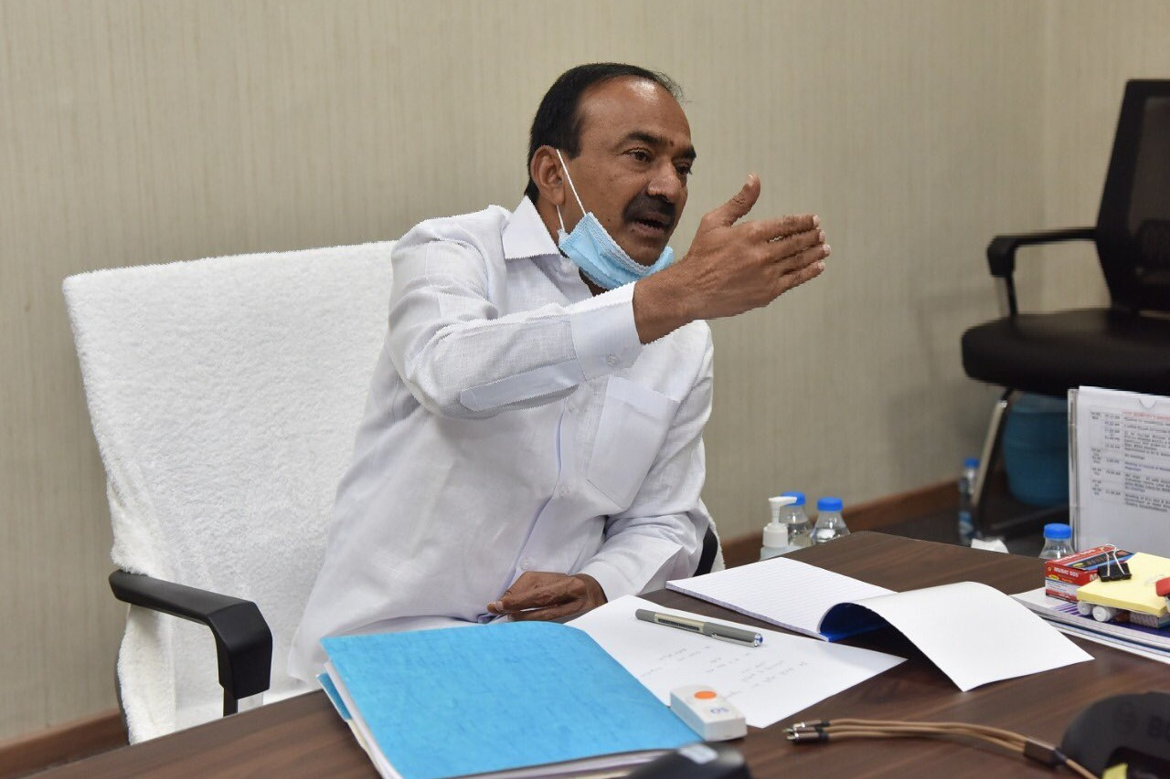 Telangana health minister Eatala Rajendar press meet on corona vaccination