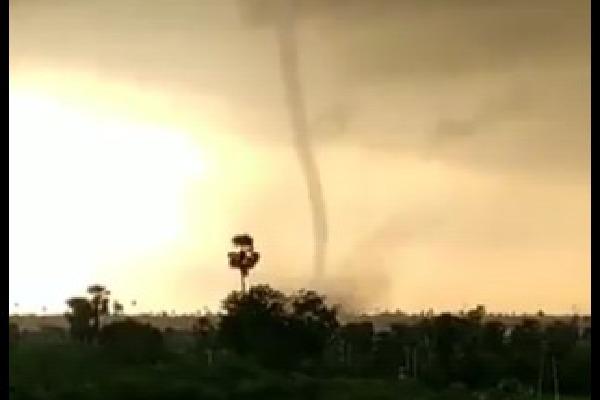 Tornado appears in Yadadri Bhuvanagiri district
