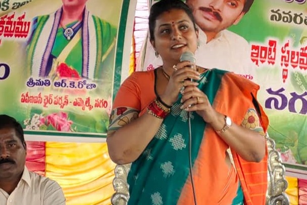 Roja fires on Chandrababu over temples demolition