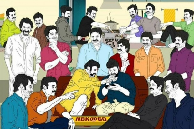 Fan Made Pic on Balakrishna Party Goes Viral