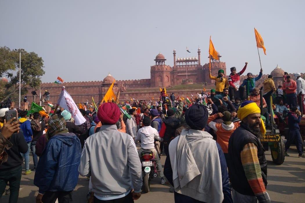Farmers agitation at Red Fort in Delhi