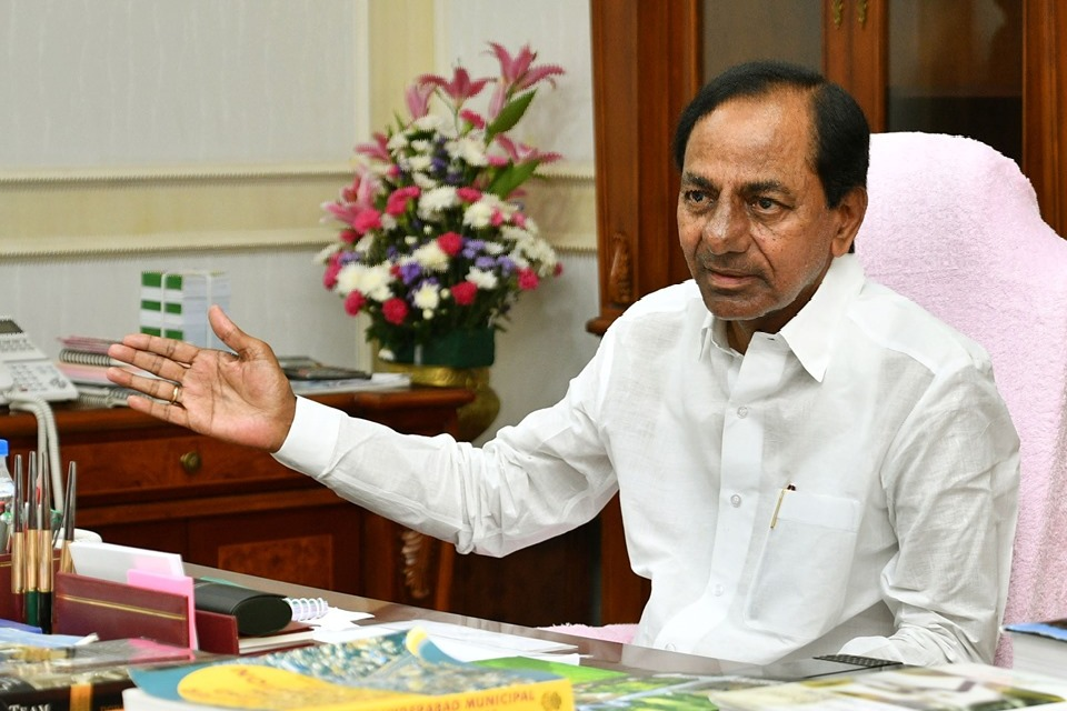 KCR writes letter to Modi for flood relief funds