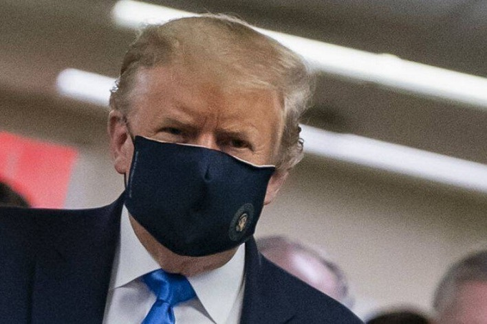 Trump Wears Mask for First Time