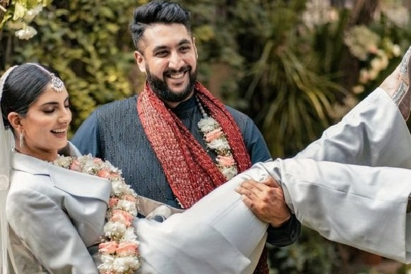 Indian woman appeared with non traditional attire in her wedding