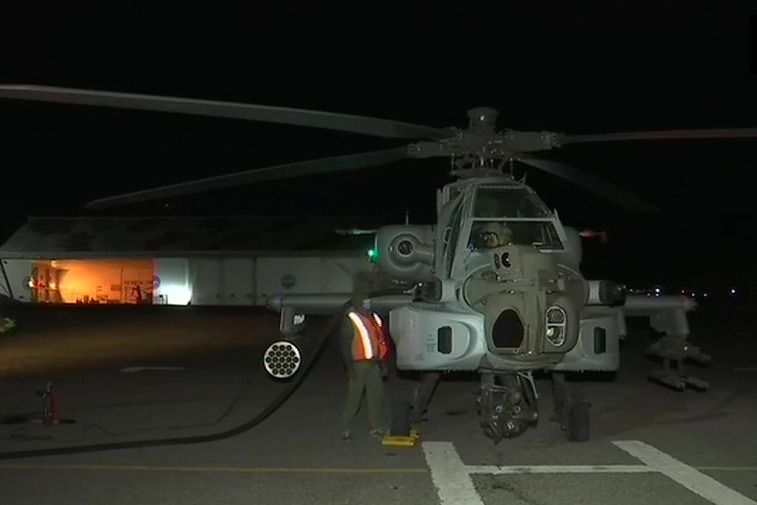 Indian Air Forces MiG29 fighter aircraft conducted night operations