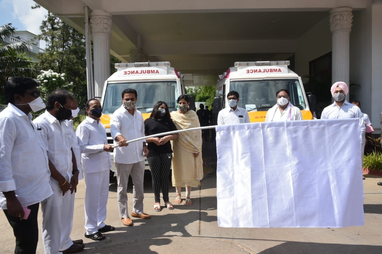 KTR Happy to contribute 6 vehicles which will initially