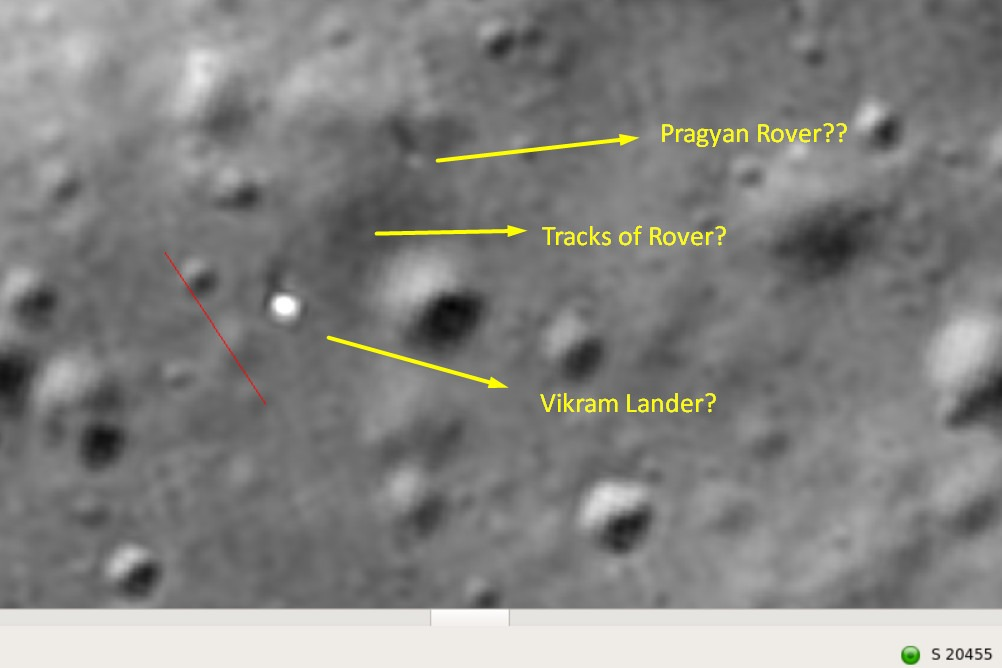 Pragyan rover may intact on moon surface according to NASA latest sat images
