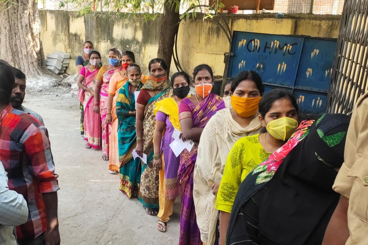 GHMC polling in Hyderabad