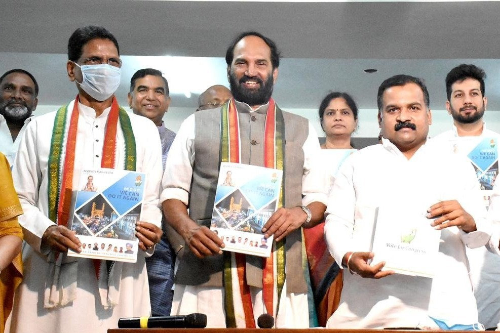 Congress party releases manifesto for GHMC elections