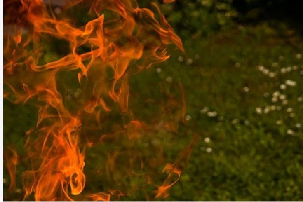 Fire accident in Srikakulam district