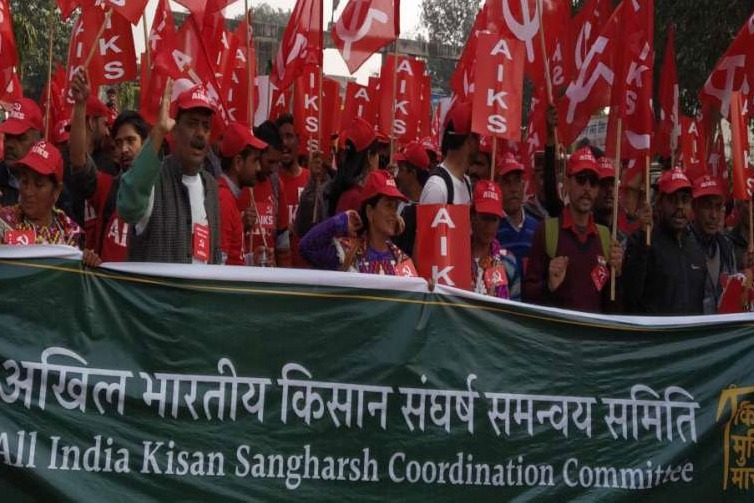 protest against farm bills on 25th labor unions supports