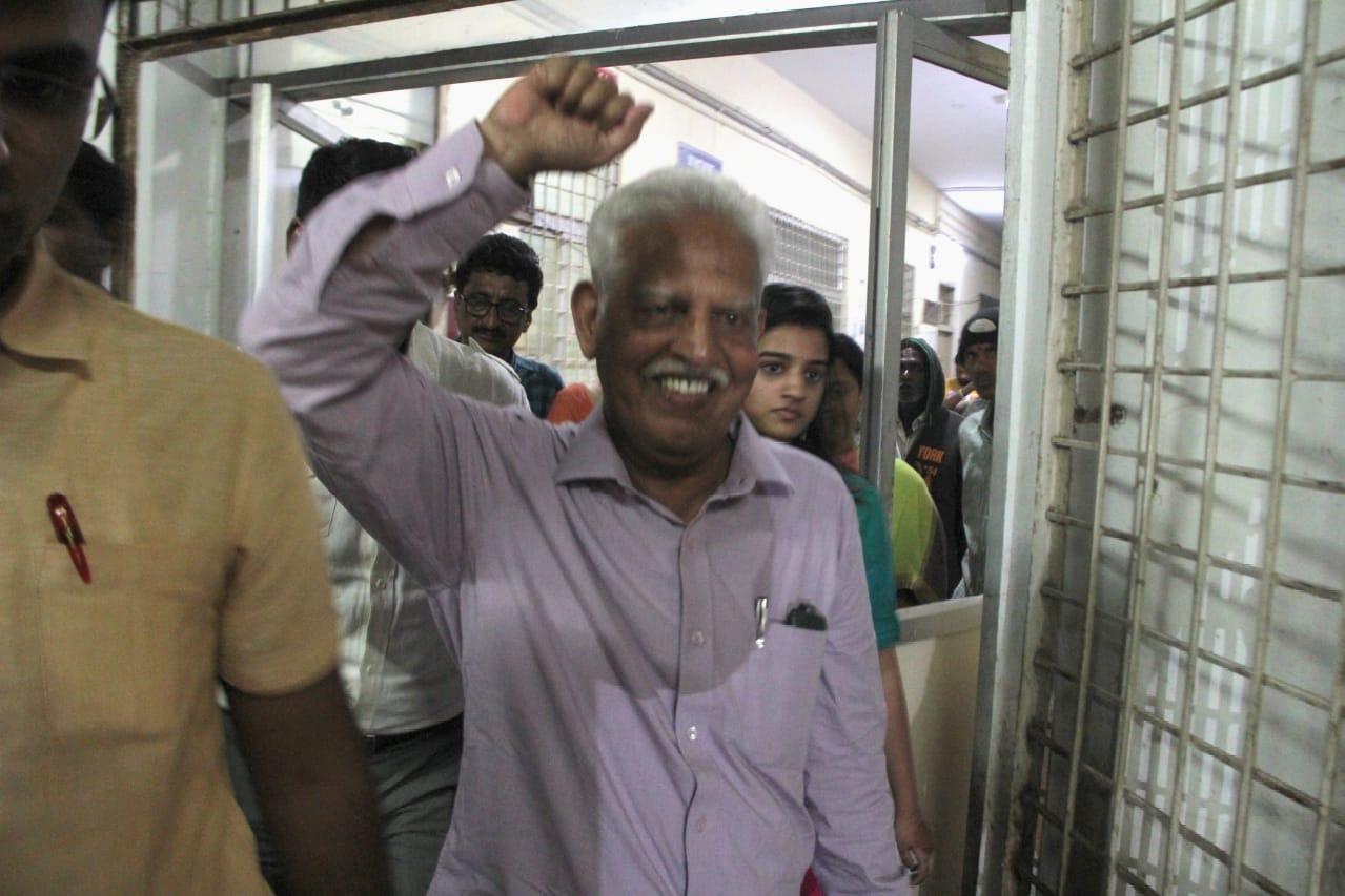 Varavararao sun in law clarifies on his Uncle health condition
