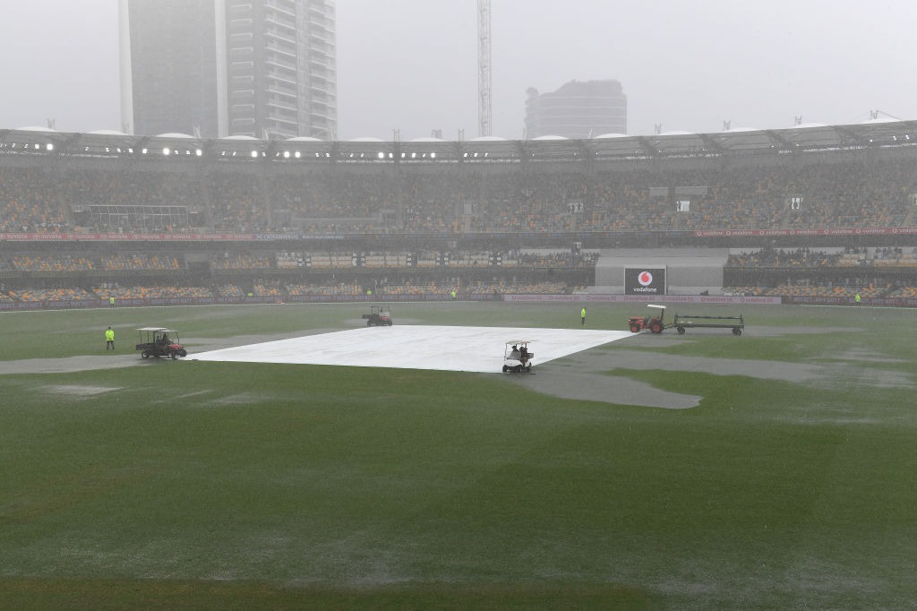 Second day play abandoned in Brisbane test