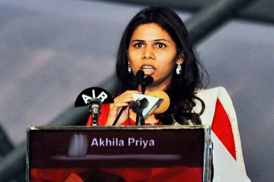 Bhuma Akhila Priya comments on declaration issue