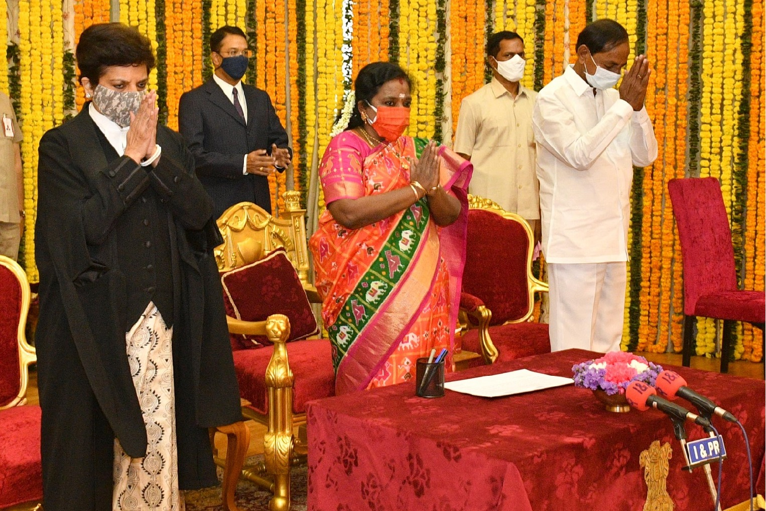 Hima Kohli taken oath as Telangana High Court Chief Justice