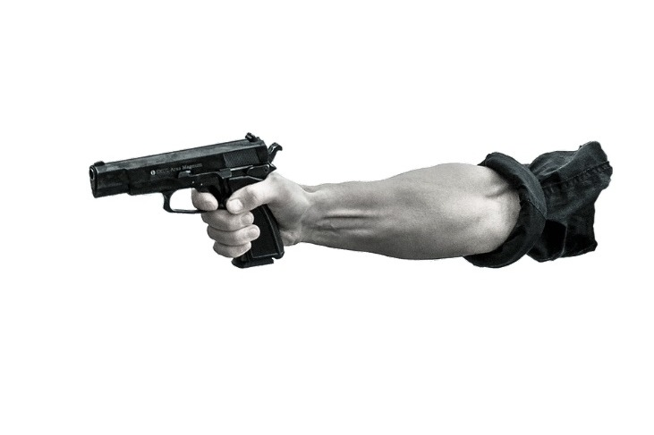man shoots woman