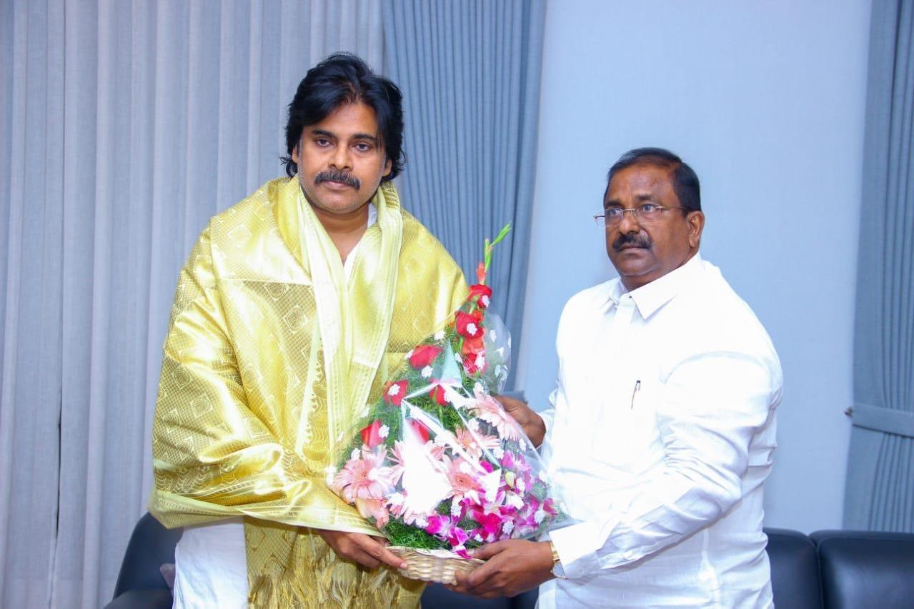 AP BJP Chief Somu Veerraju met Pawan Kalyan in Hyderabad