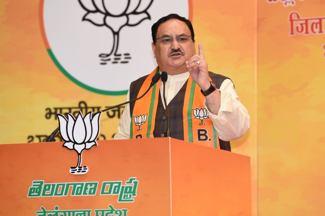 JP Nadda says thousands of Telangana people loses insurance facility due to TRS government