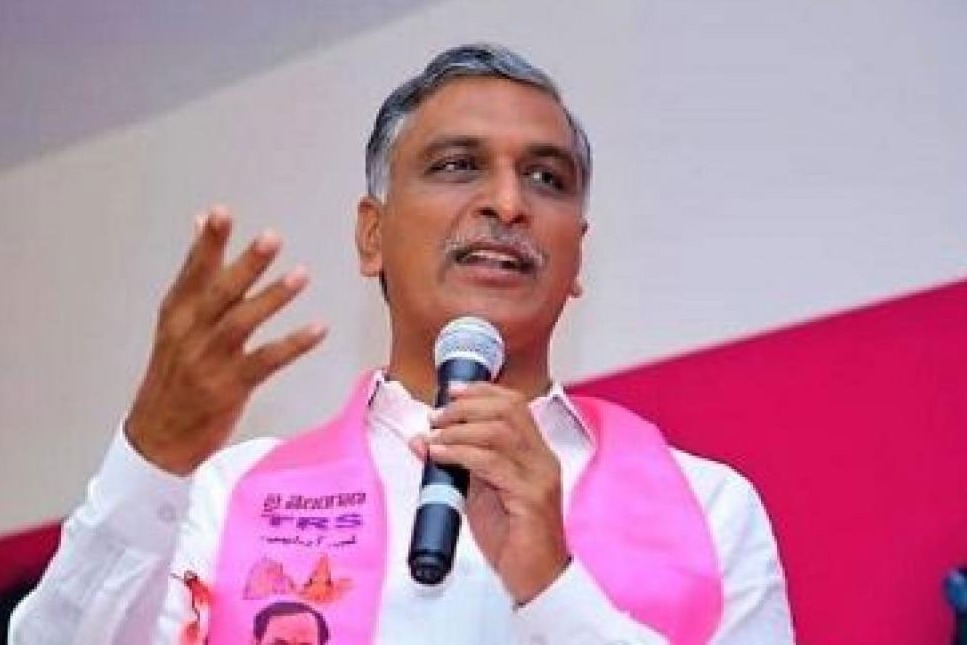 Telangana minister harish rao gave 45 lakhs for auto workers coop society