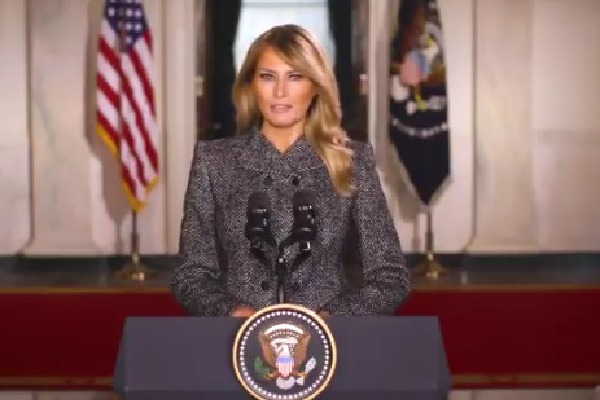 Melania Trump message to Americans