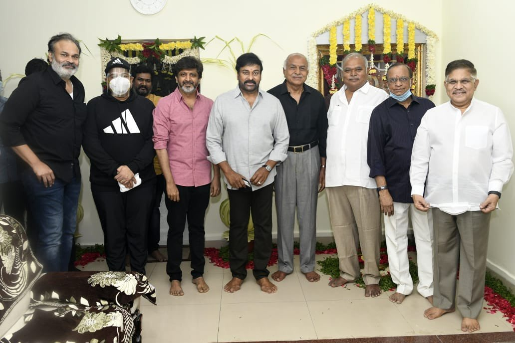 Megastar Chiru new film kickstarted with a Pooja today