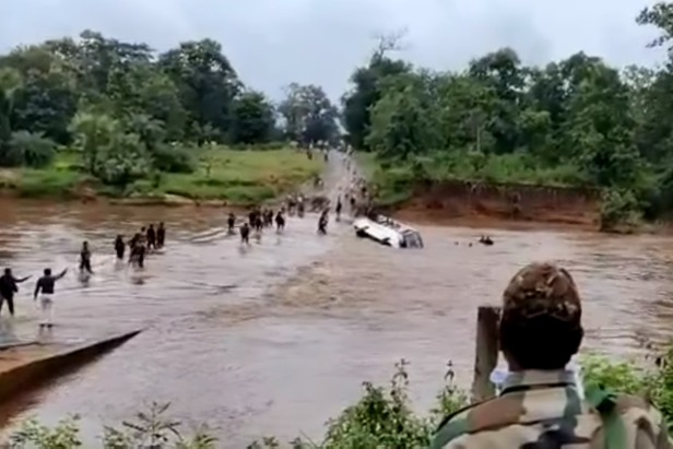 Bus with 30 CRPF soldiers washed up in floods