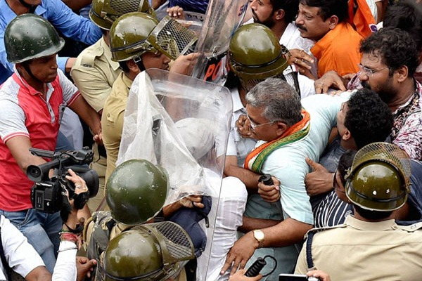 Attack on West Bengal BJP President