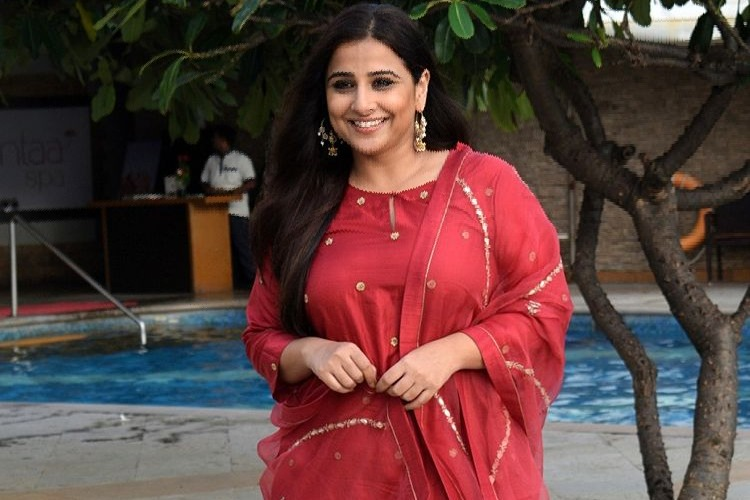 Actress Vidya Balan celebrating 42nd birthday