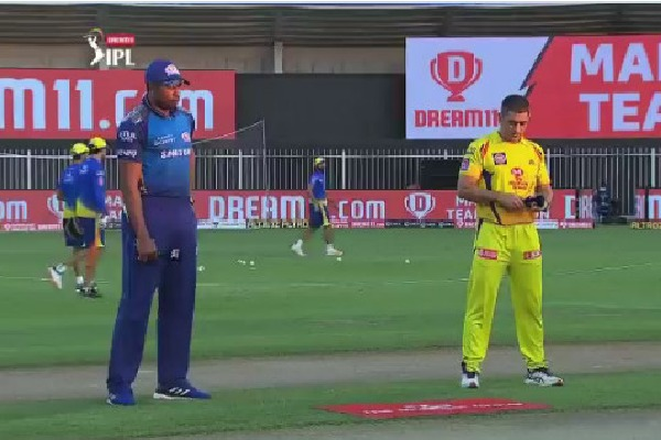 Mumbai Indians won the toss and elected bowling against Chennai Super Kings