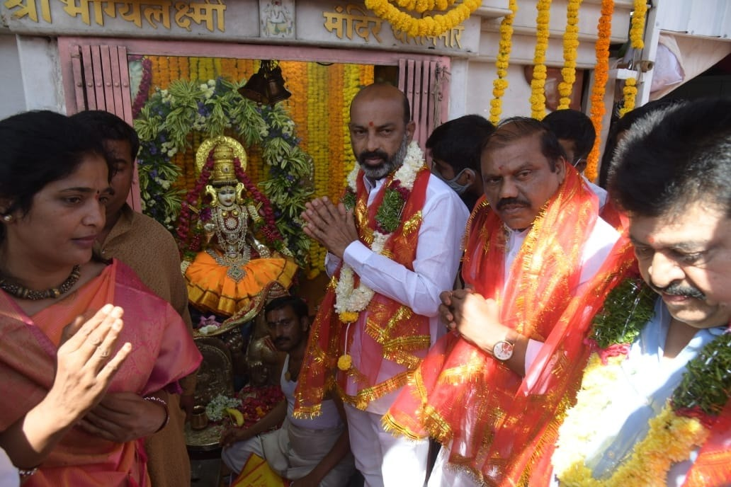 We will camp at the Charminar Bhagyalakshmi Temple says Bandi Sanjay