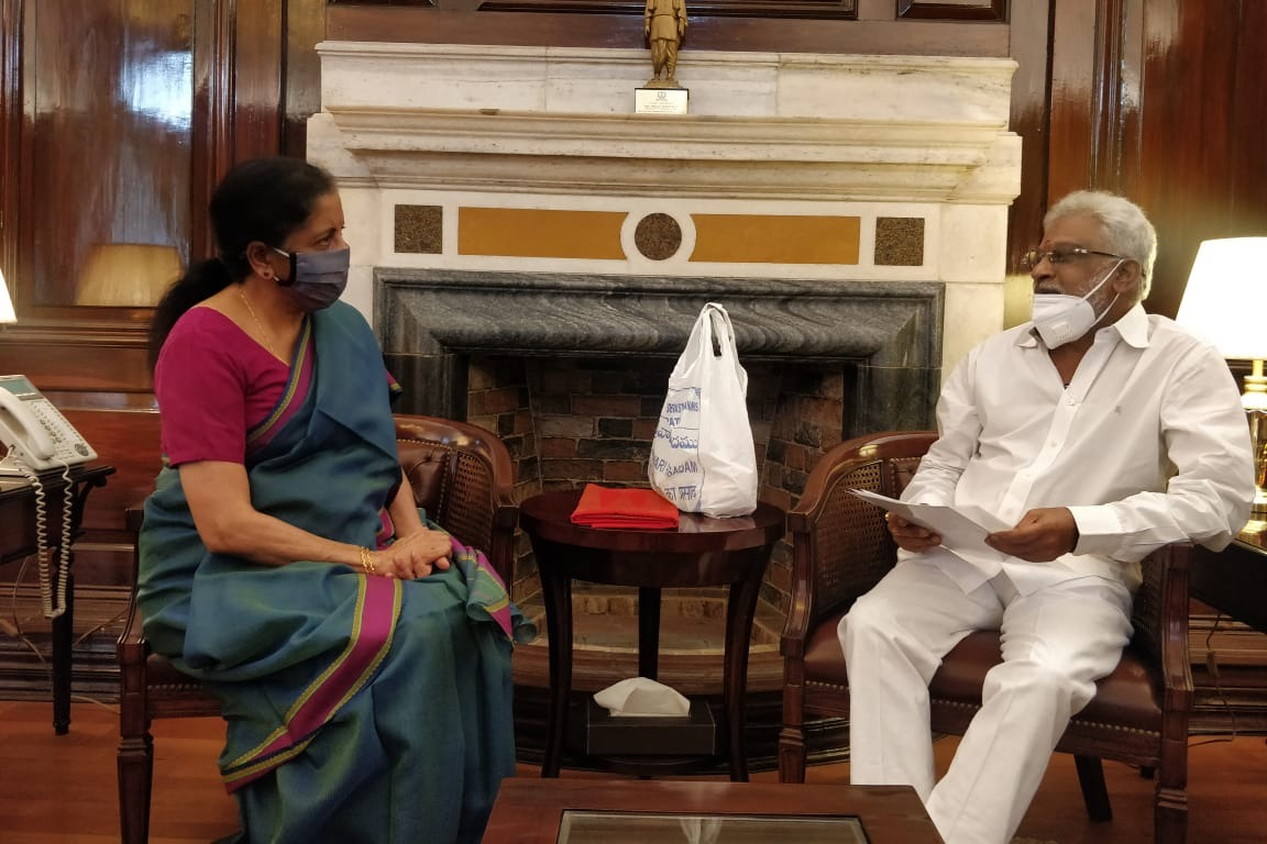 TTD Chairman YV Subba Reddy requests Nirmala Sitharaman to save TTD