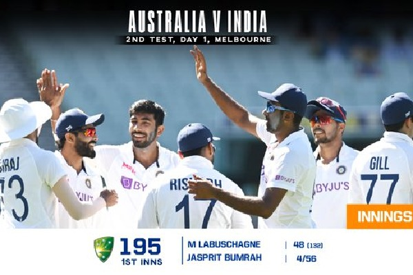 Australia all out for at 195 run