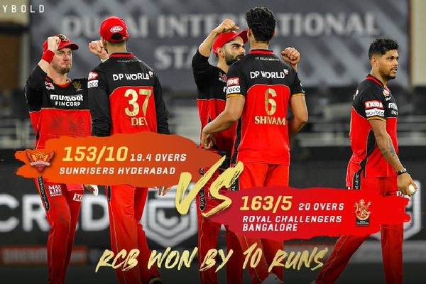 IPL 3rd match Bengaluru won against Hyderabad