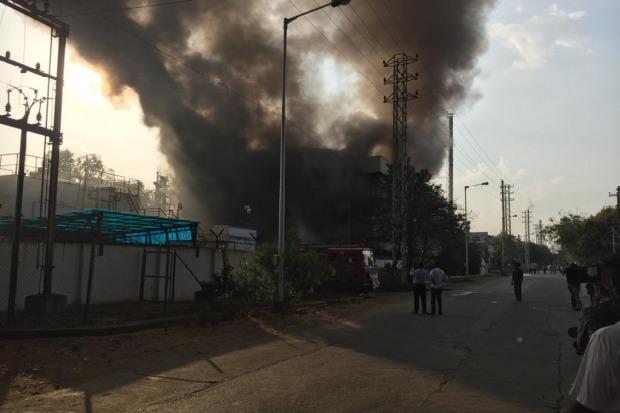 Fire accident broke in pharma building in Jeedimetla