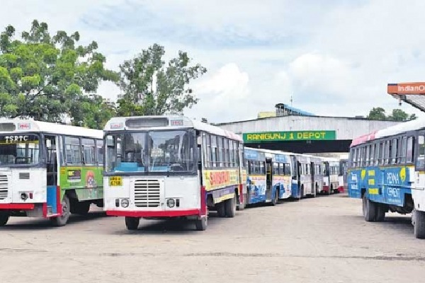 No Passengers for TSRTC buses