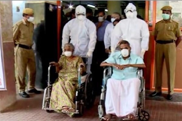 Kerala old couple defeats corona virus
