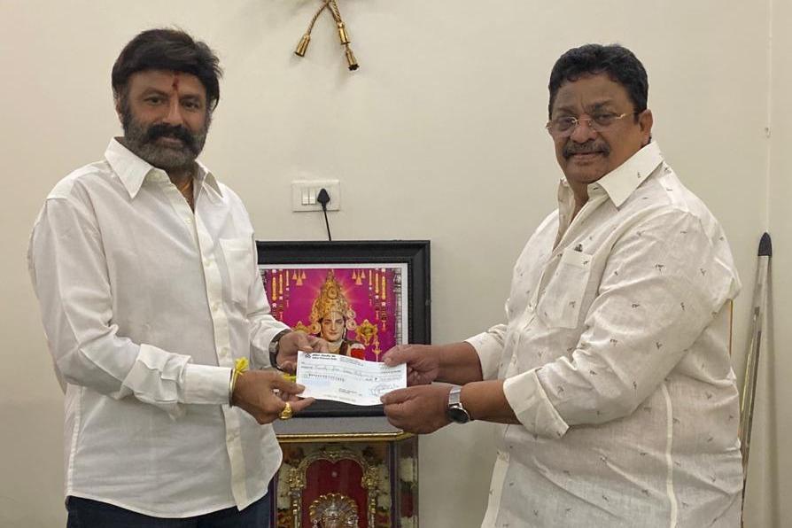NandamuriBalakrishna donates Rs 1 Crore 25 Lakhs to fight