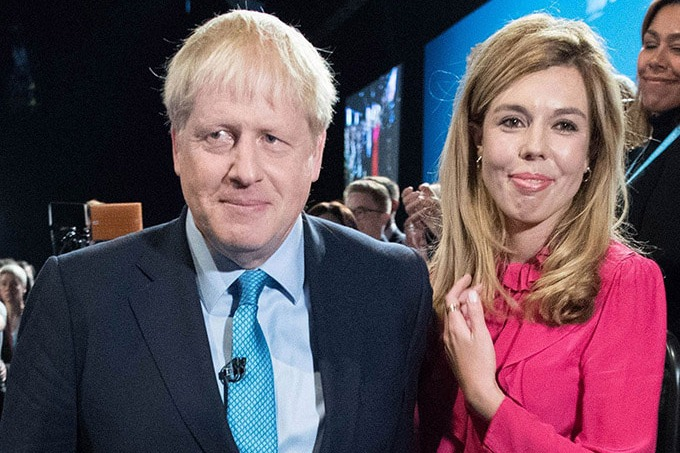 Britain PM Boris Johnson fiancee Carrie Symonds tested corona positive