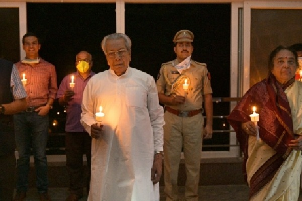 India Lights Lamps To Show Unity In Fight Against Corona virus