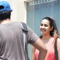 Niharika Konidela with her fiancee Chaitanya snapped at gym