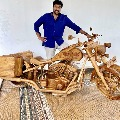 Mohan Babu gifted Chiranjeevi with a wooden bike on his birthday